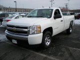 2008 Summit White Chevrolet Silverado 1500 LS Regular Cab 4x4 #44805101