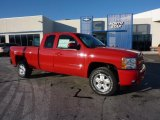 2011 Victory Red Chevrolet Silverado 1500 LT Extended Cab 4x4 #44805135
