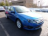 2011 Blue Flame Metallic Ford Fusion SE #44866333