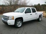 2011 Summit White Chevrolet Silverado 1500 LT Crew Cab 4x4 #44901779