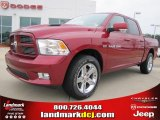 2011 Deep Cherry Red Crystal Pearl Dodge Ram 1500 Sport Crew Cab #44901096