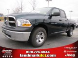 2011 Hunter Green Pearl Dodge Ram 1500 ST Quad Cab #44901100