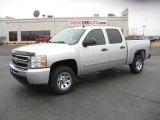 2011 Sheer Silver Metallic Chevrolet Silverado 1500 LS Crew Cab #44901530