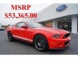 2011 Race Red Ford Mustang Shelby GT500 SVT Performance Package Coupe #44901113