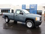 2011 Blue Granite Metallic Chevrolet Silverado 1500 Regular Cab 4x4 #44901160