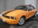 2007 Grabber Orange Ford Mustang V6 Premium Convertible #44900386