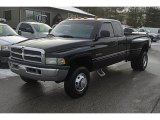 2000 Black Dodge Ram 3500 SLT Extended Cab 4x4 Dually #44901711