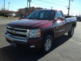 2008 Deep Ruby Metallic Chevrolet Silverado 1500 LT Regular Cab 4x4 #44957658