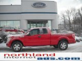 2010 Vermillion Red Ford F150 STX SuperCab 4x4 #44954713