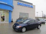 2007 Royal Blue Pearl Honda Civic LX Coupe #44954059