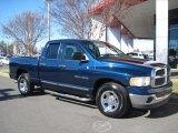 2002 Patriot Blue Pearlcoat Dodge Ram 1500 SLT Quad Cab #44957094