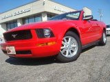 2007 Torch Red Ford Mustang V6 Deluxe Convertible #45034139
