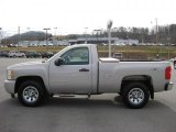 2009 Silver Birch Metallic Chevrolet Silverado 1500 Regular Cab 4x4 #45034166