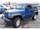 2010 Deep Water Blue Pearl Jeep Wrangler Sport 4x4 #45034332