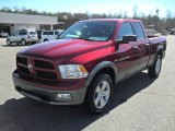 2011 Deep Cherry Red Crystal Pearl Dodge Ram 1500 SLT Quad Cab 4x4 #45035323
