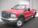 2004 Red Ford F250 Super Duty XLT SuperCab 4x4 #45033862
