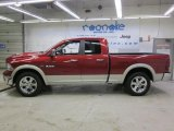 2009 Inferno Red Crystal Pearl Dodge Ram 1500 Laramie Quad Cab 4x4 #45034624