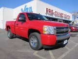 2008 Victory Red Chevrolet Silverado 1500 LS Regular Cab #45035133