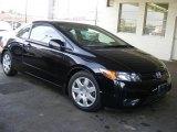 2007 Nighthawk Black Pearl Honda Civic LX Coupe #45104391