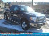 2011 Dark Blue Pearl Metallic Ford F150 XLT SuperCab 4x4 #45103716