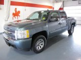 2009 Blue Granite Metallic Chevrolet Silverado 1500 LS Crew Cab #45102626
