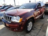 2008 Red Rock Crystal Pearl Jeep Grand Cherokee Limited 4x4 #45104501