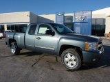 2011 Blue Granite Metallic Chevrolet Silverado 1500 LT Extended Cab 4x4 #45103763