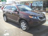 2011 Dark Cherry Kia Sorento LX AWD #45103831