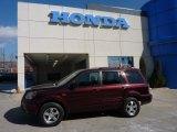2007 Dark Cherry Pearl Honda Pilot EX-L 4WD #45103562