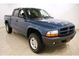 2003 Atlantic Blue Pearlcoat Dodge Dakota Sport Quad Cab 4x4 #45168883