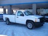 2008 Summit White Chevrolet Silverado 1500 Work Truck Regular Cab #45168181