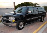 2002 Onyx Black Chevrolet Silverado 1500 LT Extended Cab 4x4 #45168280
