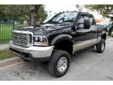 2000 Black Ford F250 Super Duty Lariat Extended Cab 4x4 #45168282