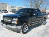 2005 Black Chevrolet Silverado 1500 LS Extended Cab 4x4 #45169489
