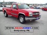 2004 Victory Red Chevrolet Silverado 1500 Z71 Regular Cab 4x4 #45168719