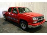 2006 Victory Red Chevrolet Silverado 1500 LS Crew Cab #45168286