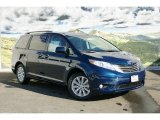 2011 South Pacific Blue Pearl Toyota Sienna XLE AWD #45228941