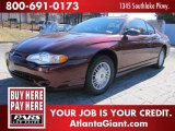 2000 Chevrolet Monte Carlo Dark Carmine Red Metallic