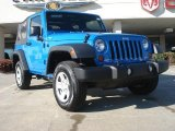 2011 Cosmos Blue Jeep Wrangler Sport 4x4 #45230437
