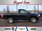 2005 Black Dodge Ram 1500 SLT Regular Cab 4x4 #45229512