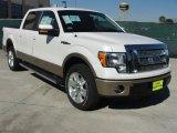 2011 White Platinum Metallic Tri-Coat Ford F150 Lariat SuperCrew #45230065