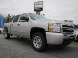 2011 Sheer Silver Metallic Chevrolet Silverado 1500 LS Crew Cab #45230091