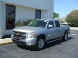 2011 Sheer Silver Metallic Chevrolet Silverado 1500 LT Crew Cab #45281314