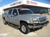 2004 Silver Birch Metallic Chevrolet Silverado 1500 Z71 Crew Cab 4x4 #45281634