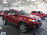 2011 Spicy Red Kia Sorento LX AWD #45281899
