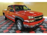 2006 Victory Red Chevrolet Silverado 1500 Z71 Extended Cab 4x4 #45281915