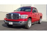 2007 Flame Red Dodge Ram 1500 SLT Quad Cab #45282749