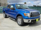 2011 Blue Flame Metallic Ford F150 XLT SuperCrew 4x4 #45281525