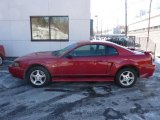 2002 Laser Red Metallic Ford Mustang V6 Coupe #45282762
