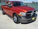 2009 Sunburst Orange Pearl Dodge Ram 1500 ST Quad Cab #45281534